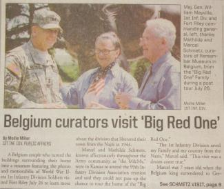 "Belgium curators visit ""Big Red One"""