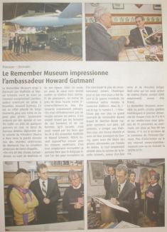 Le Remember Museum impressionne Howard Gutman